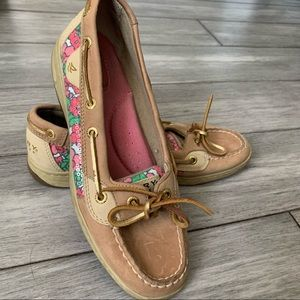Sperry Top Sider Women's Boat Shoes Berry Floral